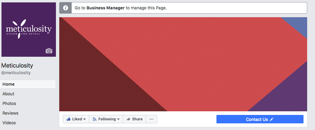 Business Manager Facebook example