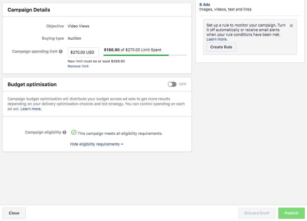 Campaign Budget Optimization Facebook Ads