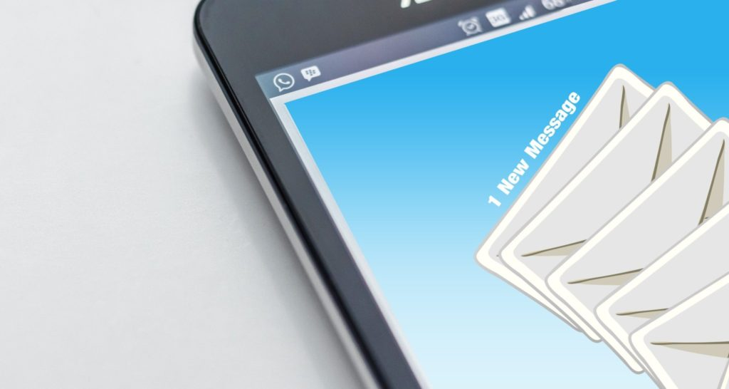 Concept image for email subscribers on a mobile phone