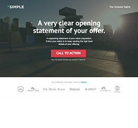 CTA style landing page example with social proof