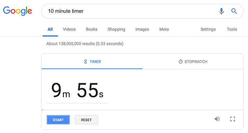 Google Search Tip: Google can act like a timer