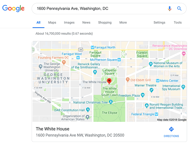 Google Search Tips: Google can lookup zip codes for any address