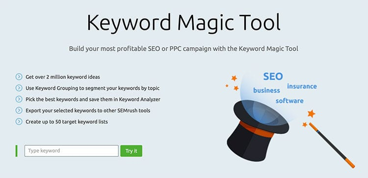 SEO tip: Use an enterprise-grade keyword research tool for your campaigns.