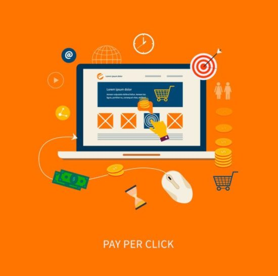 Pay per click (PPC) illustration showing the numerous opportunities that exist for conversion