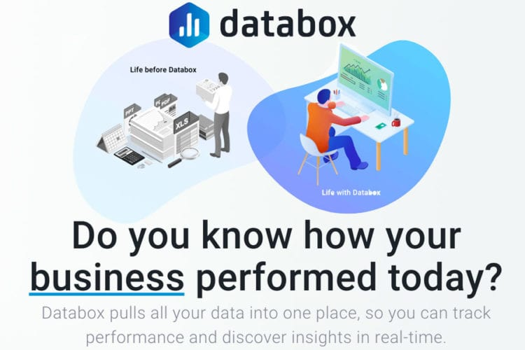 Value proposition example from Databox