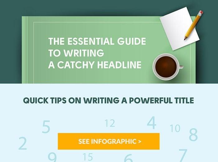 Write catchy headlines infographic