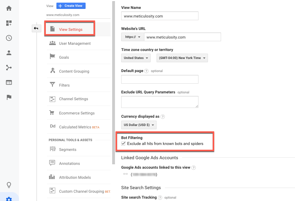 Exclude Known Bots & Spiders in Google Analytics