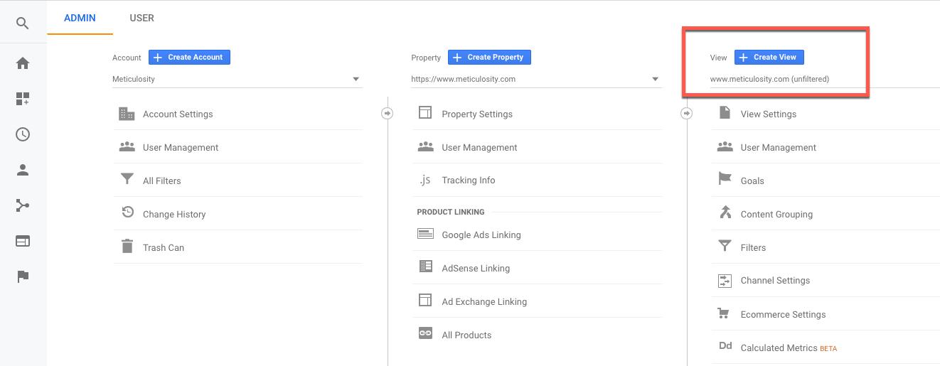 Custom views in Google Analytics