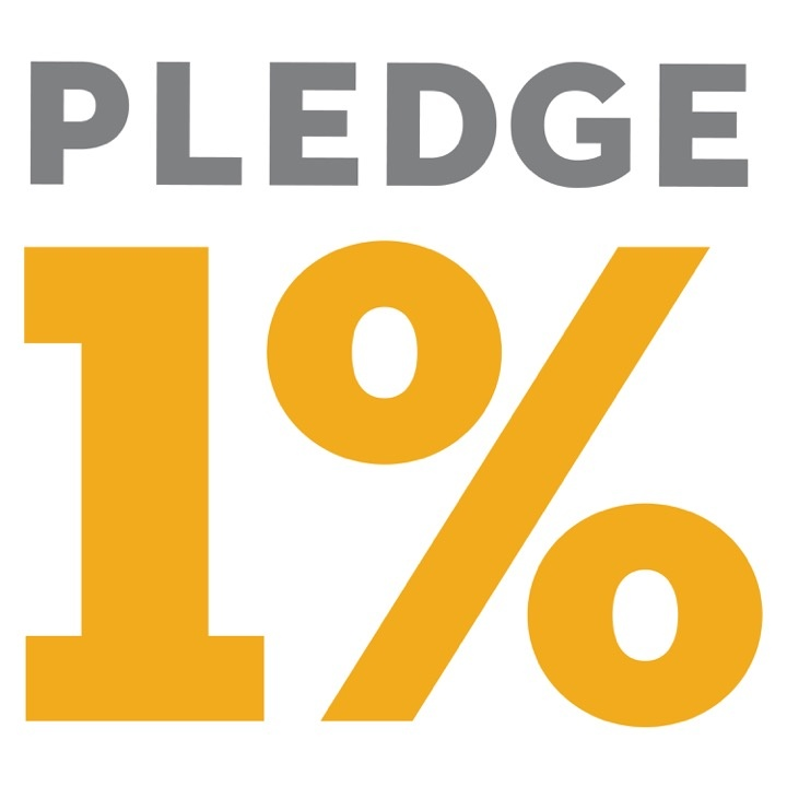 Pledge One Percent Logo Giving Back