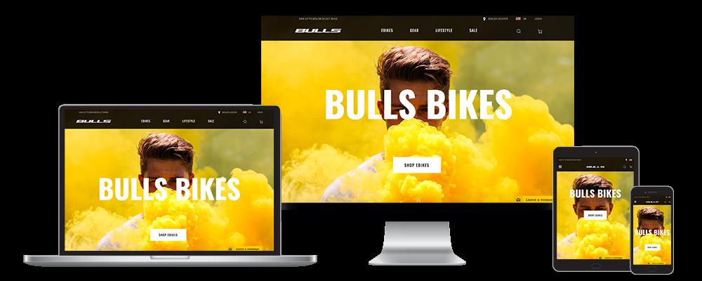 Bulls Bikes Laptop Icons Portfolio Magento 2