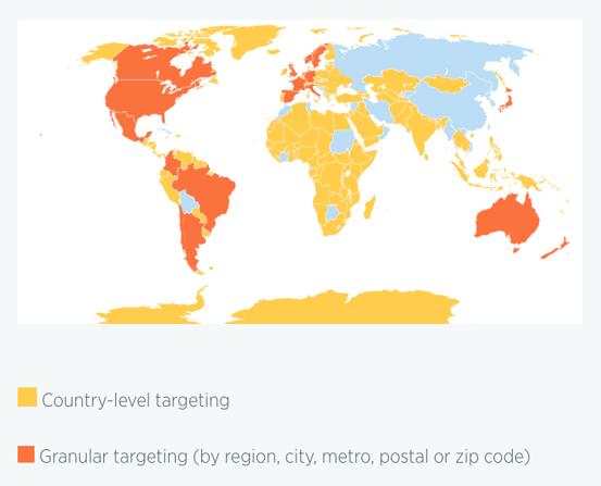 Twitter International Location Targeting Example