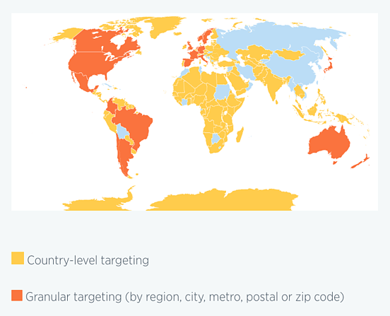 Twitter International Location Targeting Example