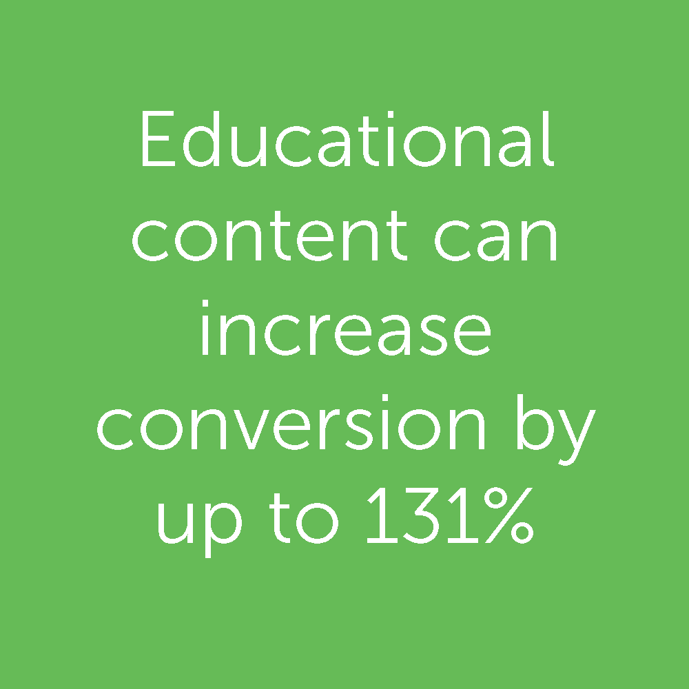 Educational Content Increases Conversion Rates