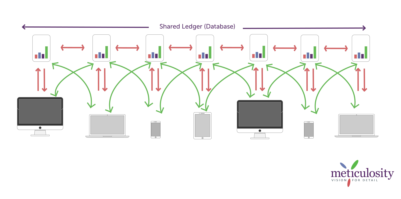 Blockchain database Infographic