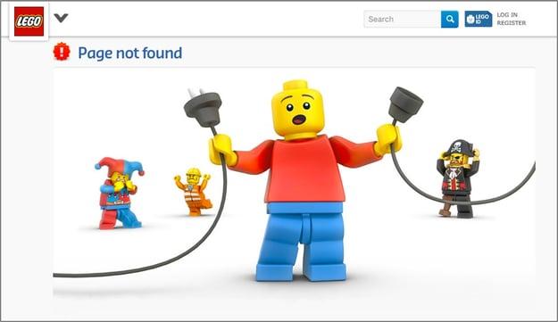 Lego 404 error page.