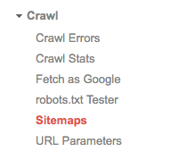 Add Sitemaps from your Google Search Console