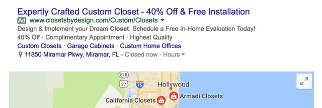 AdWords Location Ad Extension