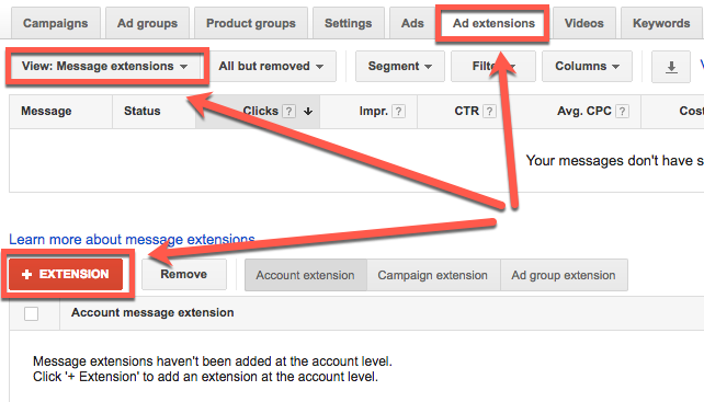 How to set up text message ads in AdWords