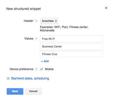 Optimmize Structured Snippets
