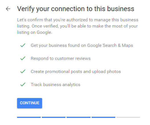 Verify Google my Business Listing