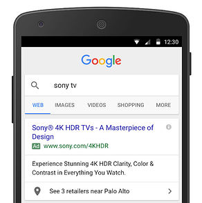Google Affiliate Location Ad Extensions on Mobile