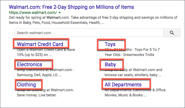 Ideas for broad level adwords sitelink extensions