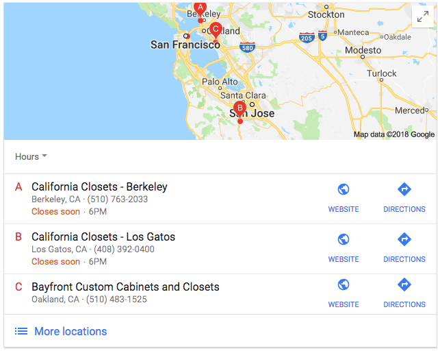 Multiple Location Listings
