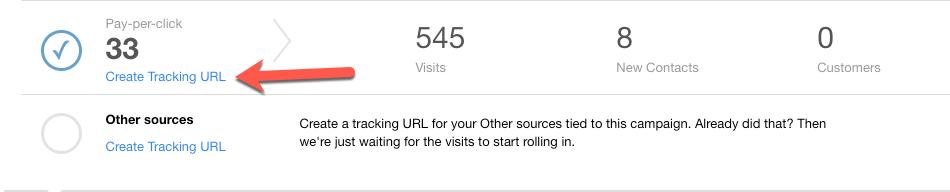 Create Tracking URL