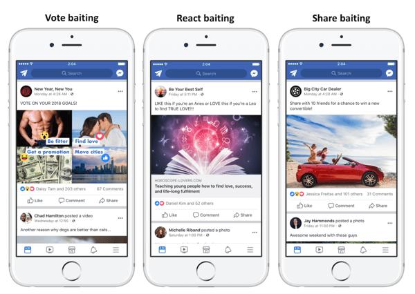 engagement bait facebook example
