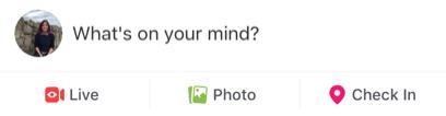 Status update Facebook live