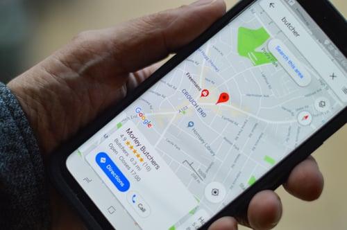 google maps app on phone