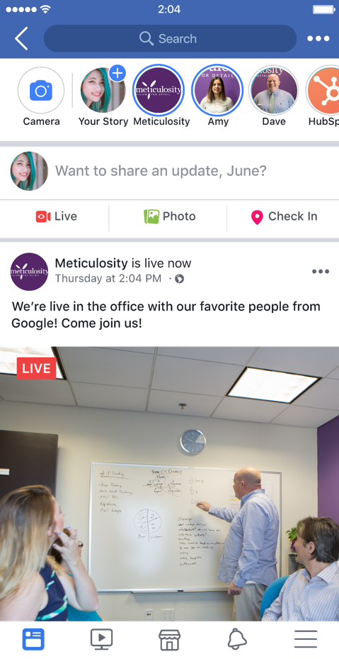 meticulosity live  example facebook