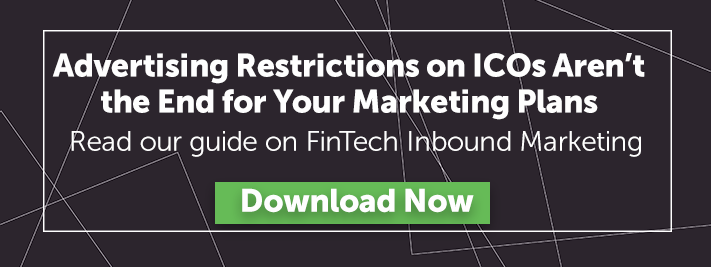 Ad restrictions ICOs red button FinTech Marketing