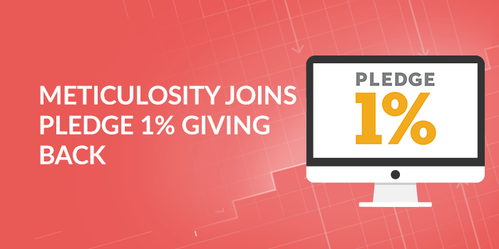 Meticulosity Joins Pledge 1% Giving Back